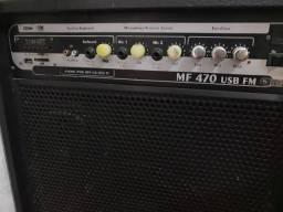 Caixa frham mf470 USB FM