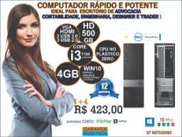 CPU Dell 3050 I3 7Ger novim Mostruário O&M Nota e garantia