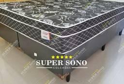 Conj Box Sonata Plumatex Queen Size 158x198 Mola Verticoil A Pronta Entrega
