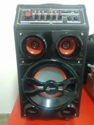 Caixa amplificadora multiuso com Bluetooth