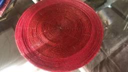 Centro de mesa miçanga vermelho