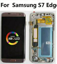 Display galaxy S7 Edge Dourado + tampa traseira dourada