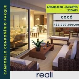 Campobelo Condomínio Parque 220mts no Cocó 04 suítes 04 vagas