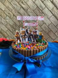 Decoração festa Roblox