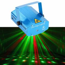 Mini Laser Stage Lighting Original Projetor Holografico Luz De Festa, entregamos