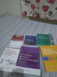 6 livros de medicina veterinária intactos