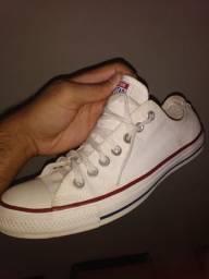 Tênis Converse All Star Chuck Taylor Lona, Original Tamanho 42 - Branco