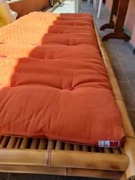 Futon japonês com base de bambú