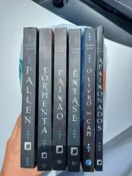 Kit com 6 livros da coleção Fallen