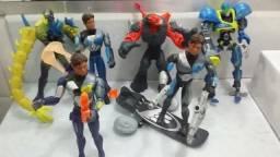 Coleção 06 bonecos Max Steel