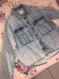 Camisa Feminina Jeans NOVA