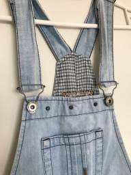 Jardineira Macacão Jeans