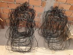 Cabides de corpo (de arame encapado)