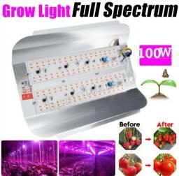 Painel Led Grow Full Spectrum 100w P/ Cultivos Indoor / Aquários / Hidroponia