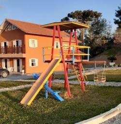 Parque infantil em madeira de lei - Parquinho - Playground