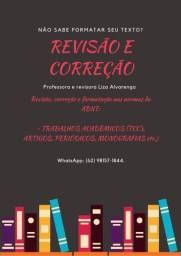Revisão e correção de textos acadêmicos