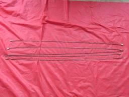Arames originais que fixam a forração interna do teto do fusca
