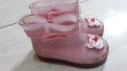 Galocha bota infantil n. 23/24 Hello Kitty grandene