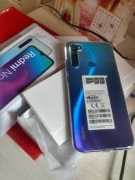 980,00 - Redmi Note 8 Azul (06 meses de uso)