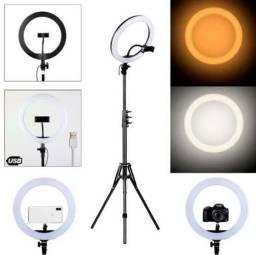 PROMOÇÃO Ring Light 10 polegadas com tripé 2,1m e suporte para celular
