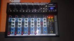 Mesa de áudio profissional com efeito pen drive gravador de áudio