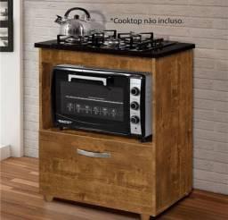 Balcao Cooktop + armário de cozinha com pequeno defeito.