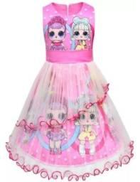 (NOVO) Vestido Infantil da Lol