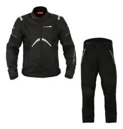 Jaqueta e Calça Motociclista LS2 - Novíssimas - Conjunto Integrado Mod. Teide - Pretas