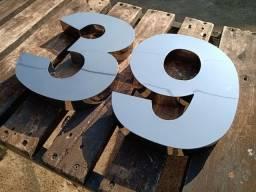 <br>Números pra casas em aço inox preço fábrica Zap *23