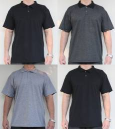 Camisa Gola Polo Lisas Sem Estampa Tam: M, G, GG, XG, XG2