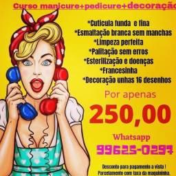 Título do anúncio: Curso de manicure e pedicure com decoração Curitiba capão raso