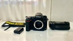 Nikon D750 Dslr Corpo Full Frame+grip