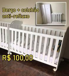 Berço + colchão anti-refluxo