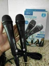 Produto novo. Microfone com fio o par r$150,00 ENTREGO