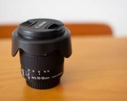 Lente Canon EF-S 10-18mm f4.5-5.6 IS Stm (impecável)