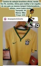 Camisa da seleção brasileira oficial Tamanho: M<br>Marca: Nike