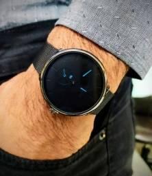 Relógio de Luxo Masculino Aplós Black Crrju Preto e Azul