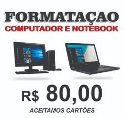 Título do anúncio: Formatação de Computadores e Notebooks