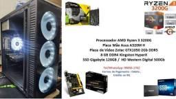PC Gamer Amd Ryzen 3 3200G 8Gb GTX 1050 2Gb + Kit Gamer !!!