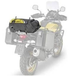 Bolsa Traseira Givi EA114BY Cilíndrico Impermeável 30 L Preta C/ Refletivos Amarelo