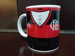 Caneca Personalizada camisa do Flamengo 325ML Cerâmica