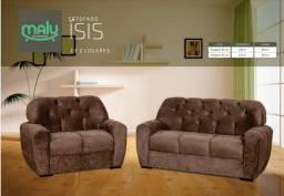 Sofá 2x3 Lugares Ísis - Frete Grátis - Sofá