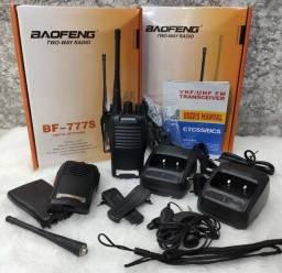 Radio 777s Vhf/uhf 16 Canais Comunicador Profissional + Fone