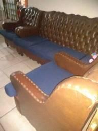 Jogo de sofá antigo 3 peças