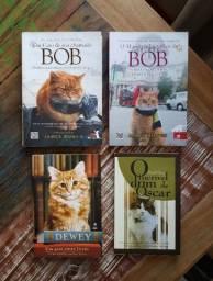Livros diversos (sobre gatos: BOB, Dewey, Oscar) Ver descrição!