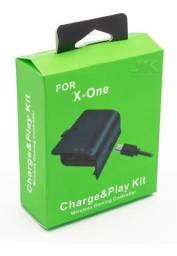 Cabo E Bateria Recarregável Carregador Controle Xbox One