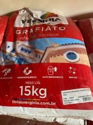 Título do anúncio: Sacos 15kg grafiato cor Terracota pronto para aplicação