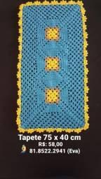 Tapetes e Centro de mesa de Crochê