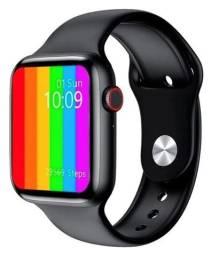 Relógio Smartwatch W26 Preto Tela Touch Infinita Ligações Notificações Nova na Caixa