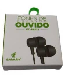 Fone de ouvido intra auricular Goldenultra GT-SEF12
